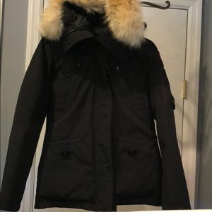 canada goose long black coat